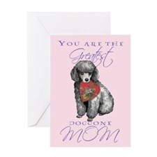 Miniature Poodle Mom Greeting Card