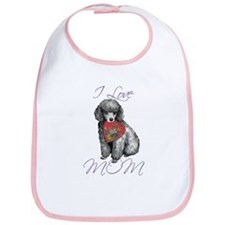 Miniature Poodle Mom Bib