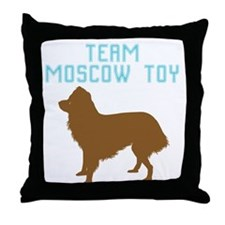 Moscow Toy Terrier Throw Pillow