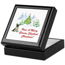 German Shepherd Christmas Keepsake Box