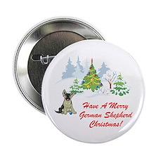 German Shepherd Christmas Button