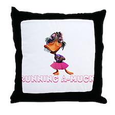 Running A-Muck Throw Pillow