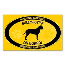 Bullmastiff On Board 2 Decal