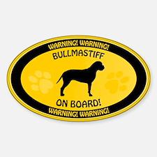 Bullmastiff On Board 2 Decal
