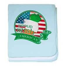Proud Irish American baby blanket