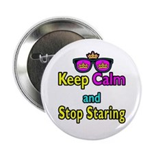 Crown Sunglasses Keep Calm And Stop Staring 2.25""