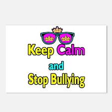 Crown Sunglasses Keep Calm And Stop Bullying Postc
