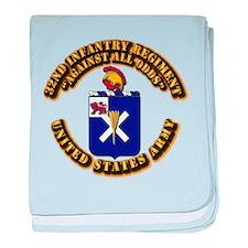 COA - 32nd Infantry Regiment baby blanket