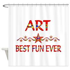 Art Best Fun Shower Curtain