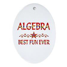 Algebra Best Fun Ornament (Oval)