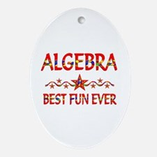 Algebra Best Fun Ornament (Oval)