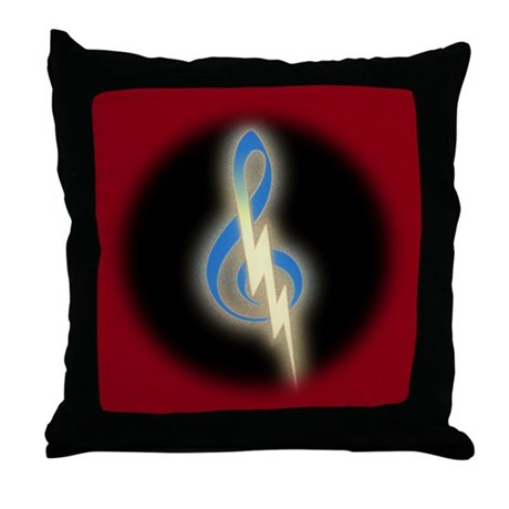 Trouble Clef Throw Pillow