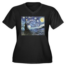 Starry Night Vincent Van Gogh Plus Size T-Shirt