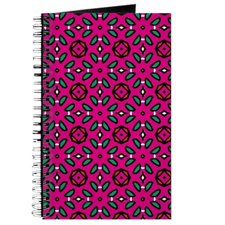 Hot Pink Geometric Floral Pattern Journal