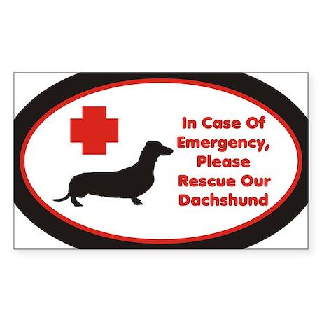 Dachshund Emergency Alert Decal Sticker