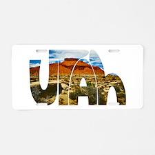Utah desert logo Aluminum License Plate