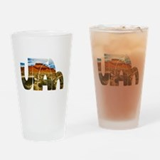 Utah desert logo Drinking Glass