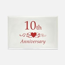 10th Wedding Anniversary Rectangle Magnet