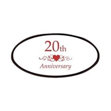 20th Wedding Anniversary Patches