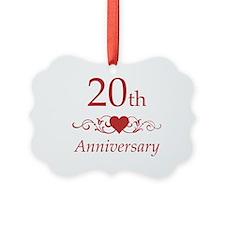 20th Wedding Anniversary Ornament