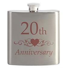 20th Wedding Anniversary Flask