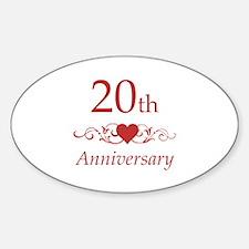 20th Wedding Anniversary Decal