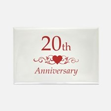 20th Wedding Anniversary Rectangle Magnet