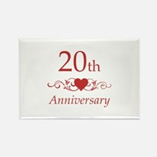 20th Wedding Anniversary Rectangle Magnet (100 pac