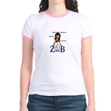 Zeta Phi Beta Cap Sleeve Shir T-Shirt