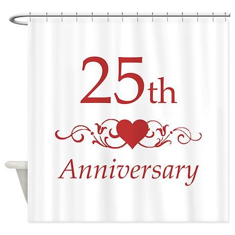 25th Wedding Anniversary Shower Curtain