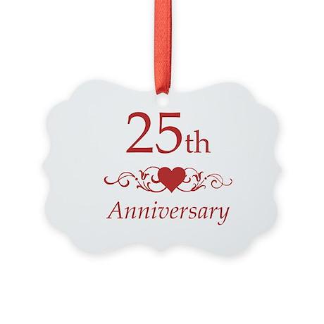 25th Wedding Anniversary Ornament By Pixelstreetann