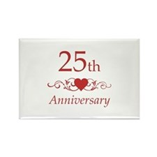 25th Wedding Anniversary Rectangle Magnet