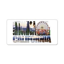 Santa Monica Logo pier beach flora Aluminum Licens