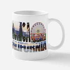 Santa Monica Logo pier beach flora Mug