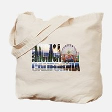 Santa Monica Logo pier beach flora Tote Bag