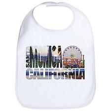 Santa Monica Logo pier beach flora Bib