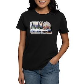 Santa Monica Logo pier beach flora T-Shirt