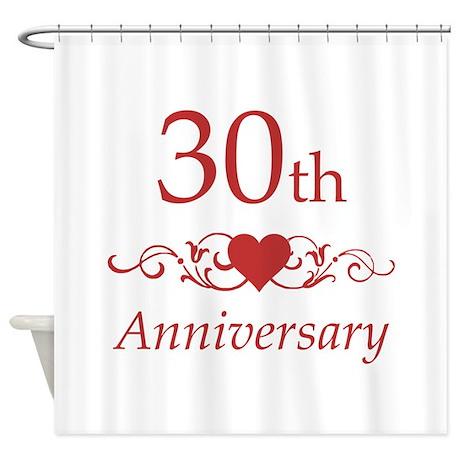 30th Wedding Anniversary Shower Curtain By Pixelstreetann