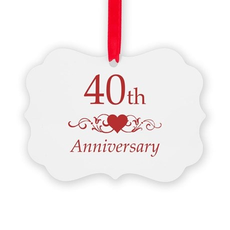 40th wedding anniversary ornament by pixelstreetann - Color of th anniversary ...