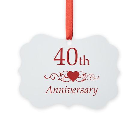 40th wedding anniversary ornament by pixelstreetann - Color of th anniversary ...