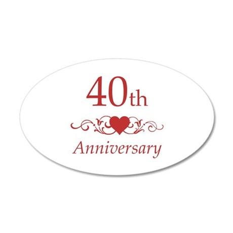 40th Wedding Anniversary Wall Sticker by pixelstreetann
