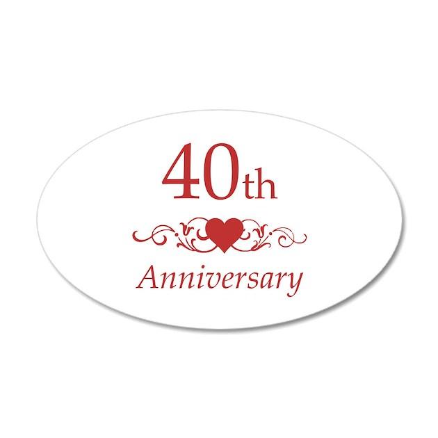 40th Wedding Anniversary Wall Decal Sticker by pixelstreetann
