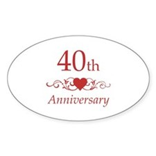 40th Wedding Anniversary Decal