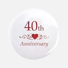 "40th Wedding Anniversary 3.5"" Button"
