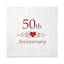 50th Wedding Anniversary Queen Duvet