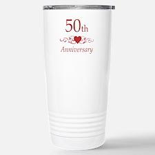 50th Wedding Anniversary Stainless Steel Travel Mu