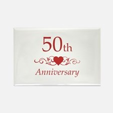50th Wedding Anniversary Rectangle Magnet