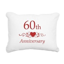 60th Wedding Anniversary Rectangular Canvas Pillow