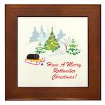 Rottweiler Christmas Framed Tile
