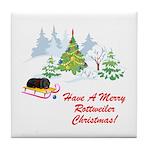 Rottweiler Christmas Tile Coaster